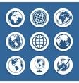 Set of symbols Planet vector image