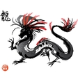 Japanese Dragon drawing vector image