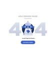 404 error page not found design with ufo vector image vector image