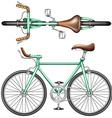 A green bike vector image vector image