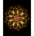 Abstract Brown Flower vector image