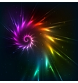 Abstract rainbow fractal spiral background