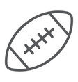 american football ball line icon game and sport vector image vector image