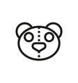 bear sewing icon on white background vector image vector image