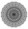 beautiful abstract black mandala isolated vector image