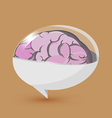 Brain Balloon Text Symbol Logo vector image vector image
