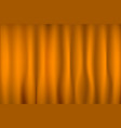 brightly lit curtains for your background orange vector image