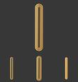 Bronze line i logo design set
