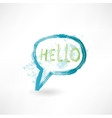 Bubble speech with word hello Brush icon vector image vector image