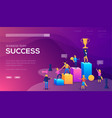 business team success landing page template vector image vector image