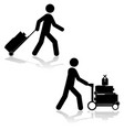 Carrying luggage vector image vector image