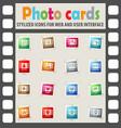 cinema genre icon set vector image vector image