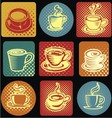 Classic Coffee Cup Icon vector image vector image