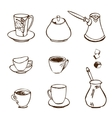 coffee accessories vector image vector image