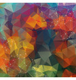 colorful abstract background abstract polygonal vector image vector image