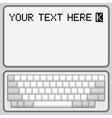 Computer keyboard vector image vector image