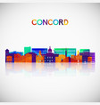 concord new hampshire skyline silhouette vector image vector image