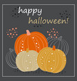 cute halloween pumpkin card vector image vector image