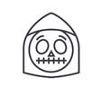 death emoji concept line editable concept vector image vector image