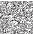 decorative nature seamless pattern vector image