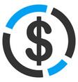 dollar diagram flat icon vector image vector image
