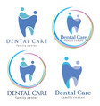 family dental logos vector image vector image