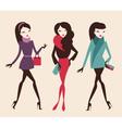fashion girls vector image vector image