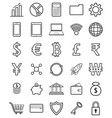 fintech line icons on white background vector image