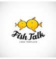 Fish Talk Abstract Logo with Typography vector image