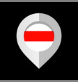 flag republic belarus pointer for map vector image