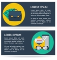 Flat infographic business background vector image