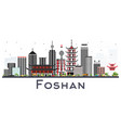 foshan china city skyline with gray buildings vector image vector image