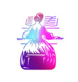 girl playing piano vector image vector image