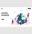 global business team character landing page vector image vector image