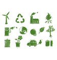 grunge environment icons vector image vector image