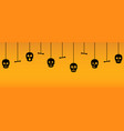 halloween ornaments with hanging sculls vector image