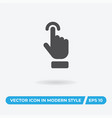 hand icon simple car sign vector image vector image