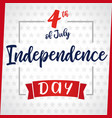 independence day greeting card light star vector image vector image
