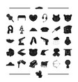 jewel weapon animal and other web icon in black vector image vector image
