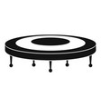jump trampoline icon simple style vector image