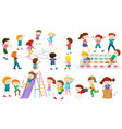 many children play different games vector image vector image