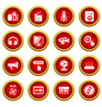multimedia internet icons set simple style vector image vector image