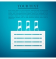 Pack of Beer flat icon on blue background vector image vector image