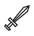 pirate sword vector image vector image