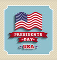 presidents day design vector image vector image