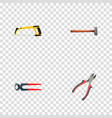 realistic handle hit tongs forceps vector image