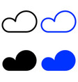 set icon clouds vector image vector image