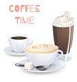 set of coffee drinks vector image vector image