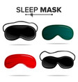 sleep mask set isolated of vector image vector image