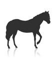 sorrel horse logo vector image vector image